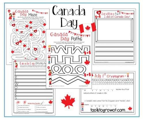 FREE Canada Day worksheets and resources for fine motor and occupational therapy intervention. www.toolstogrowot.com