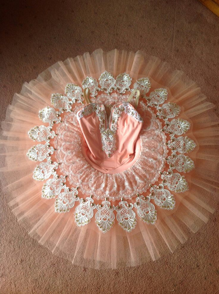 Classical tutu By Jetutus  Follow on facebook My pretty handmade peach cream tutu embelished with Swarovski Crystals  and more