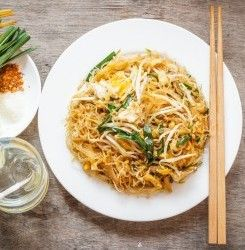 Check out this keto friendly pad thai recipe that uses spiralized zucchini in place of wheat noodles for a delicious low-carb meal.