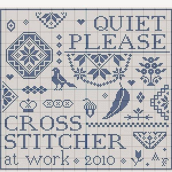 Quiet Please, Stitcher at Work