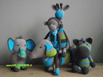 Crochet animals by willewopsie