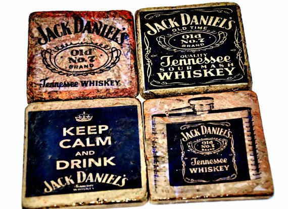 Wonderful Set of Jack Daniels Copper Slate Tile Coasters!! (Set of 4) Perfect for Anniversary, Man Cave, Wedding, Housewarming, or Birthday! on Etsy, $24.95