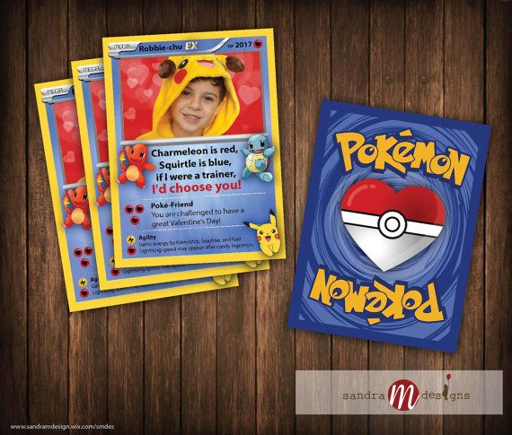 This listing is for a digital 8.5x11 PDF file, 9up, of a custom Pokemon Valentine Card (approx - 2.5x3.38 which is about the size of a real Pokemon card). Includes (1) PDF of the Front Card w/your childs picture and name, (1) PDF of the Back with Pokemon heart ball, (1) PDF instruction sheet. Heart background can be added to your photo at no additional charge. Please include the following in the NOTES SECTION or via CONVO at checkout:  Childs Name Childs Photo Message (if you would like ...