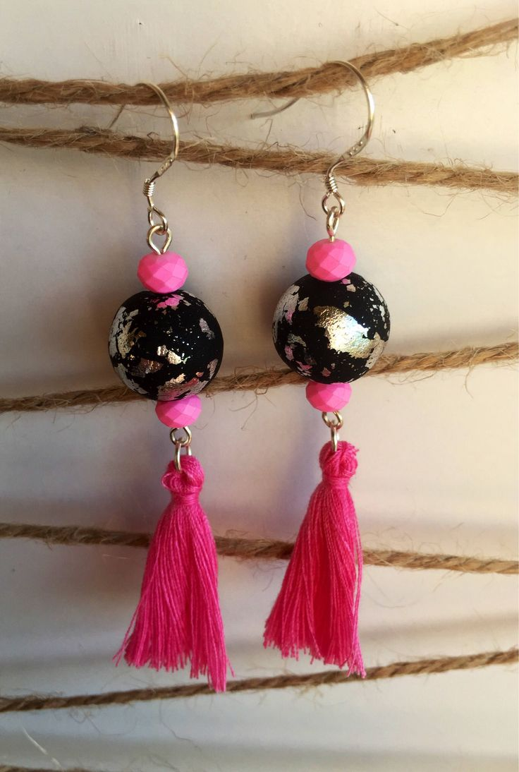 Excited to share the latest addition to my #etsy shop: Statement tassel earrings
