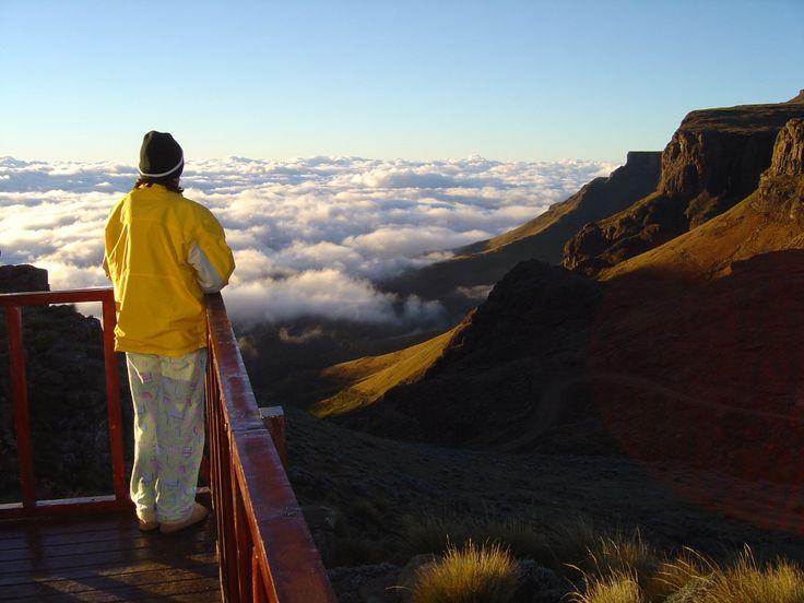 At the top of Sani Pass