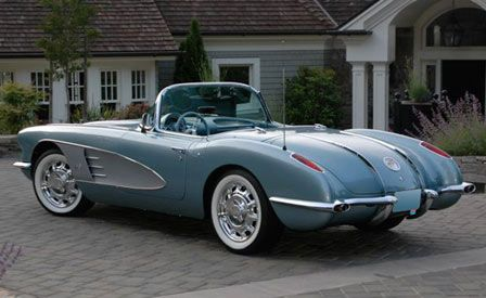 1958 Corvette was the top Corvette sale at the 2008 Barrett-Jackson's inaugural collector car auction in Las Vegas. On the final evening of the auction, this Silver-Blue Roadster was hammered home for USD 170,000.