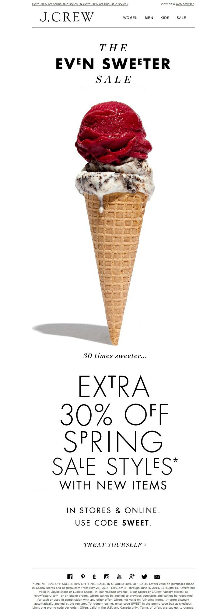 #newsletter 05.2014 A sweet sale has arrived...with new styles