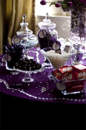 Purple wedding candy buffet! : When even add a little bling bling. Mitchie check this out!! So easy and cute!!! We could do it!!
