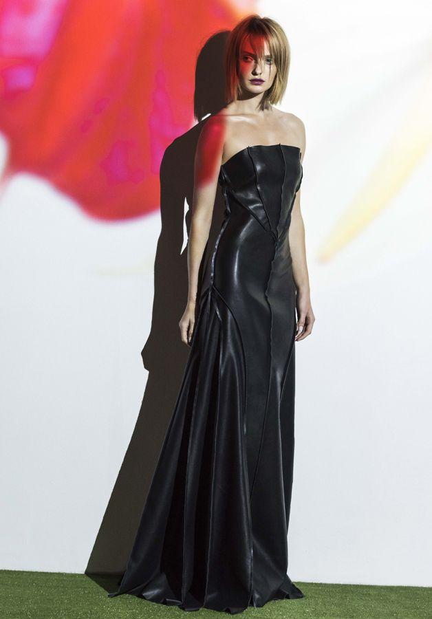 black faux leather nightshade dress. www.biancaspender.com