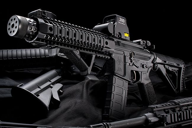 Spikes Tactical Compressor SBR-300 BLK / EOTech .300 Blackout Holo Sight