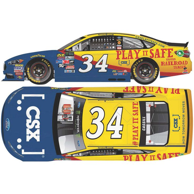 Landon Cassill Action Racing 2017 #34 CSX 1:24 Monster Energy NASCAR Cup Series Gold Die-Cast Ford Fusion