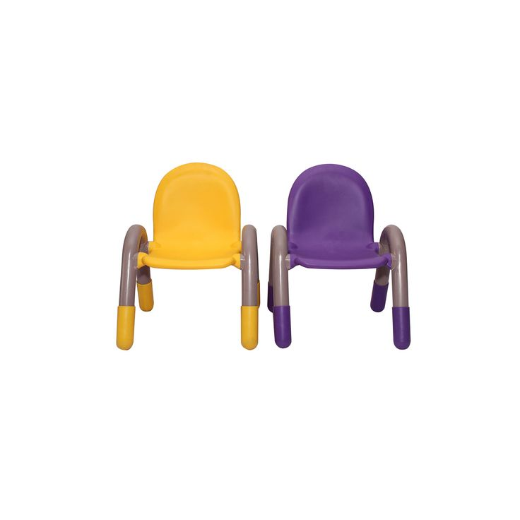 """THE CHICO ENGINEERING PLASTIC KIDS CHAIR PURPLE AND YELLOW PAIR Kids Furniture Manufacturer