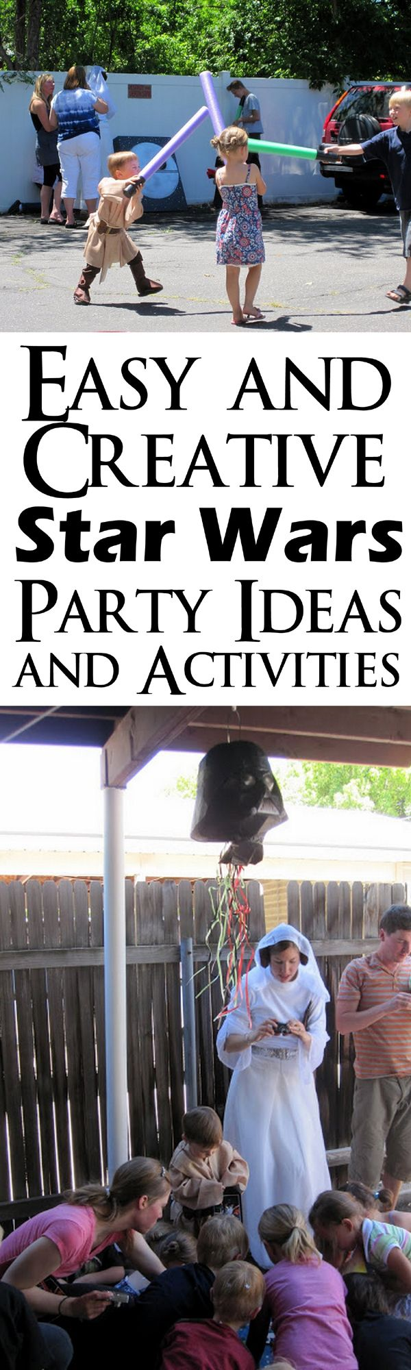 Super cute Star Wars party. Great doable ideas and activities at Rae Gun Ramblings