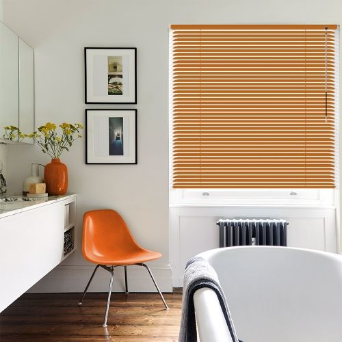 Tangerine Orange Venetian Blind. Black BlindsCumbriaVenetianYellow Kitchen  ...