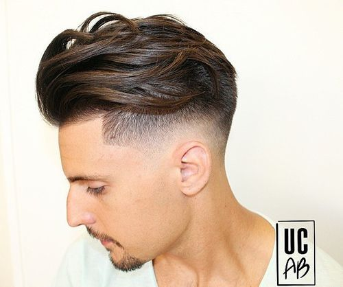 long top short sides wavy hairstyle