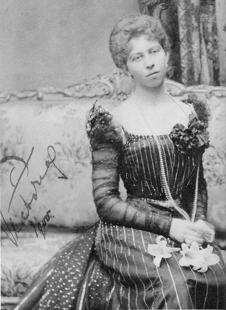 Victoria de Prusse (1866-1929) mariée au prince Adolphe de Schaumburg-Lippe (1859-1917) puis en secondes noces à Alexandre Zoubkoff (1901-1936)