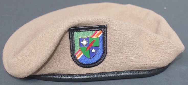 Authentic New 75th Ranger Regiment Tan Beret, U.S. Army Special Operations