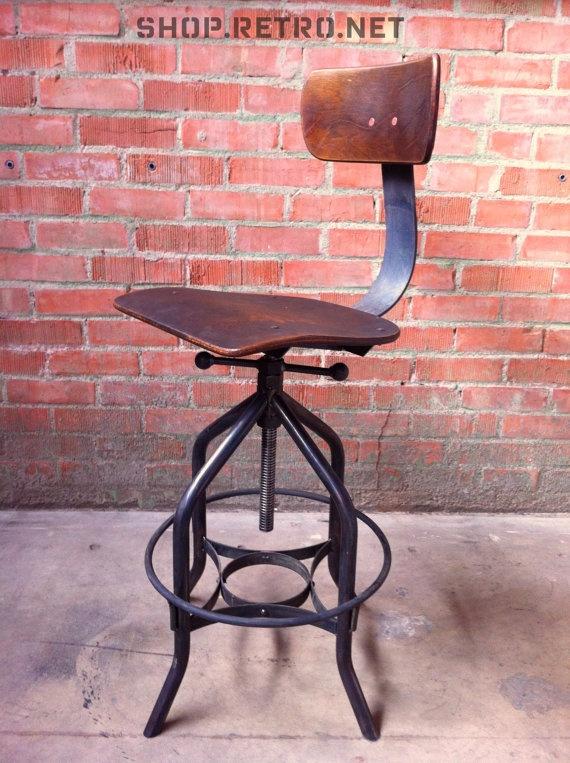 Bar Stool Vintage Industrial Toledo Reproduction