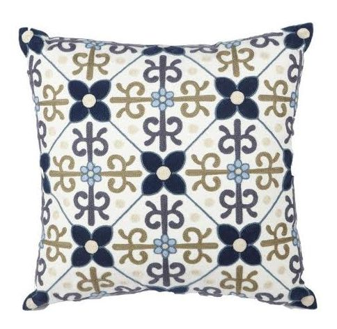 NEW in - our blue and gold regal embroidered cushion. Stunning colours and patterns come together in this beautiful piece.