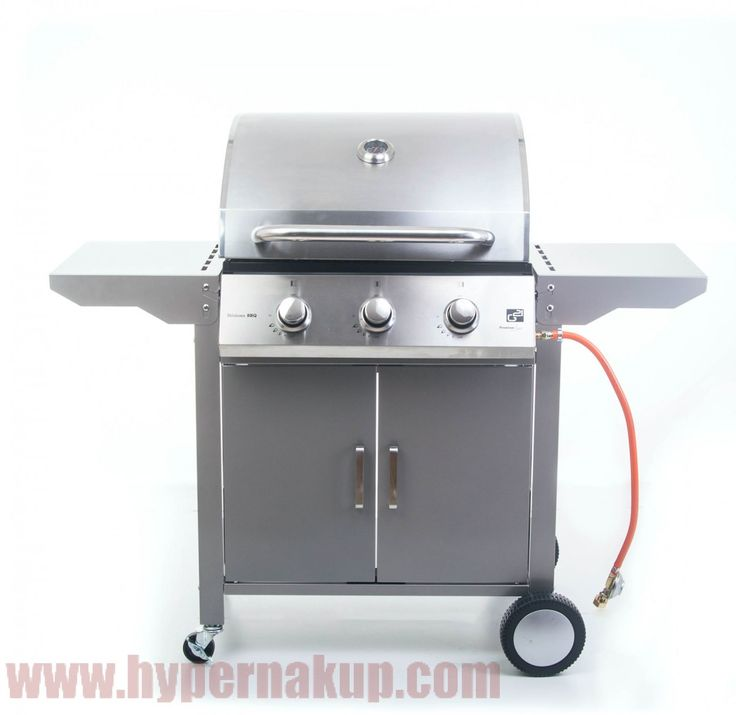 PLYNOVÝ GRIL OKLAHOMA BBQ Premium Line 3 horáky