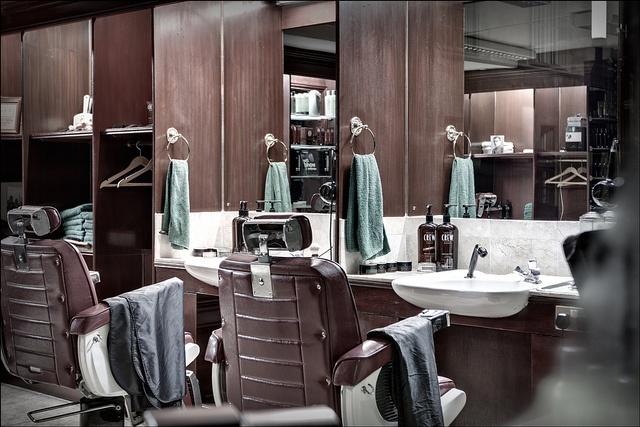 Deserted barber shop