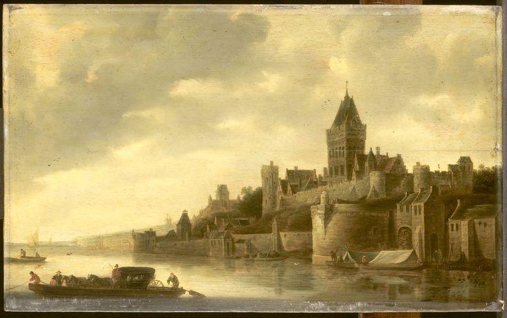 Gezicht op het Valkhof te Nijmegen ( Frans de Hulst ) 1650