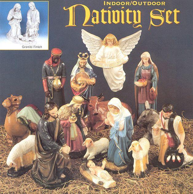 "24"" Outdoor Nativity Set - 15 Piece Full Set"