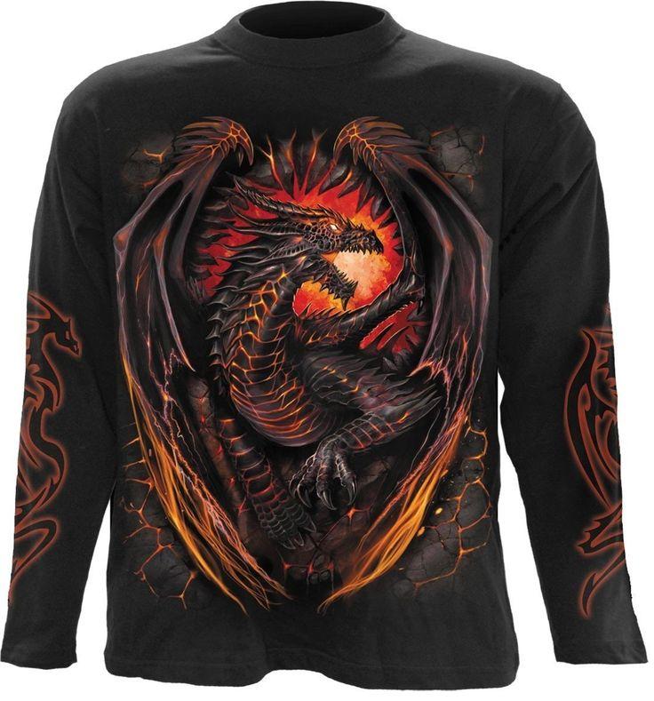 Fiery Dragon Print Tee