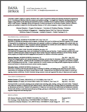 Resume Samples   Brooklyn Resume Studio   New York City Resume Writer U0026  Career Consultant  Resume Writer Los Angeles