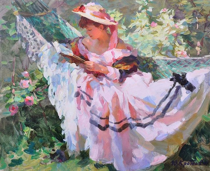 YURI KROTOV (born 1964) RUSSIAN A young girl in a - by John Nicholsons