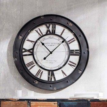 Wanduhr Vintage Uhr Gross Design Retro Metall