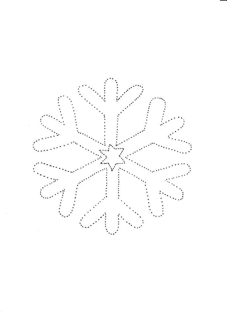 Śnieżynka szablon grafomotoryka5 DownloadsDownload Now!