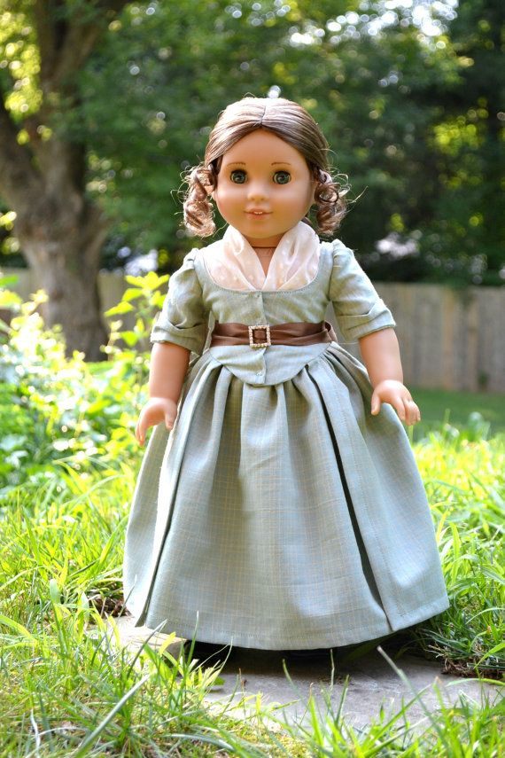 Summer Blue Colonial Gown for American Girl by PemberleyThreads on Etsy.   $69.50