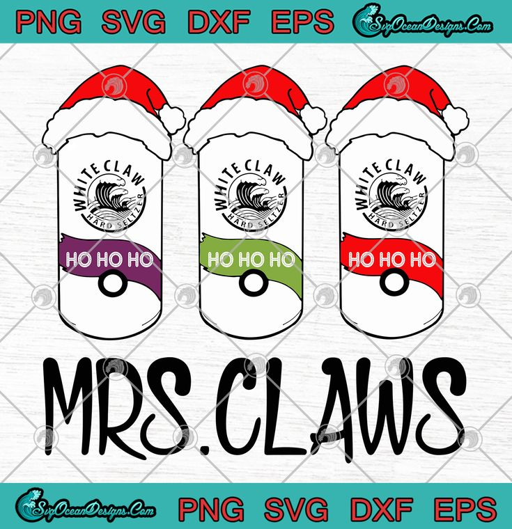 Mrs Claws Ho Ho Ho Christmas SVG PNG EPS DXF Santa Claws