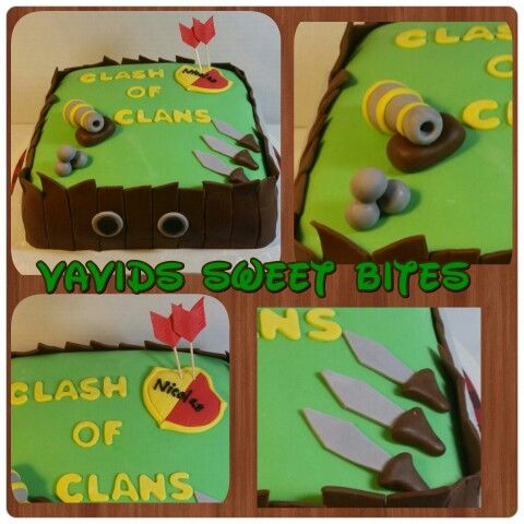 Clash of Clans cake! #cake #birthday ##brown #arrows