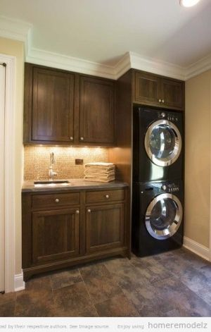 Traditional cabinets for laundry room- mom and dad by PJVeens