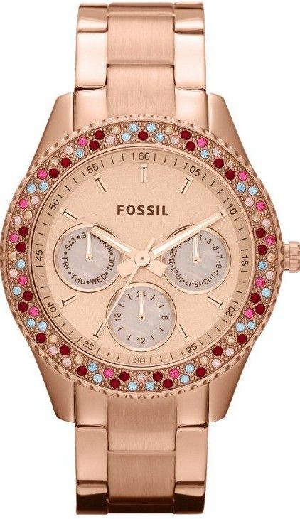Fossil #ES3198 Stella Stainless Steel Watch, Rose