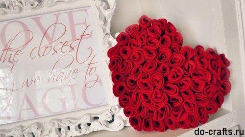 Розы из войлока своими руками главная