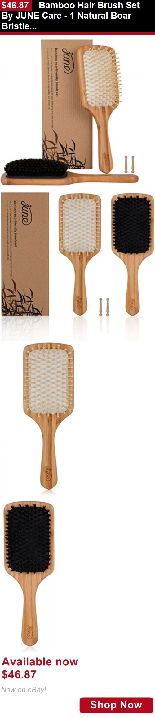 Baby Health And Grooming: Bamboo Hair Brush Set By June Care - 1 Natural Boar Bristle Hair Brush And 1 BUY IT NOW ONLY: $46.87