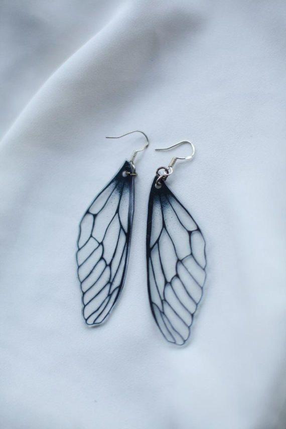 Fairy Wing Earrings Dragonfly Earrings by JoellesEmporium on Etsy