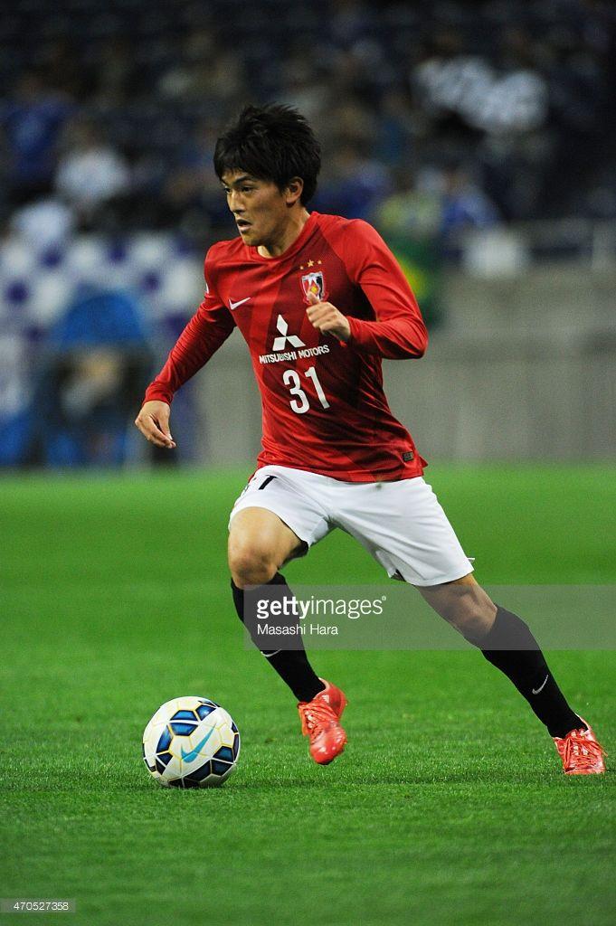 Toshiyuki Takagi #31 of Urawa Red Diamonds in action during the AFC Champions League Group G match between Urawa Red Diamonds and Suwon Samsung FC at Saitama Stadium on April 21, 2015 in Saitama, Japan.