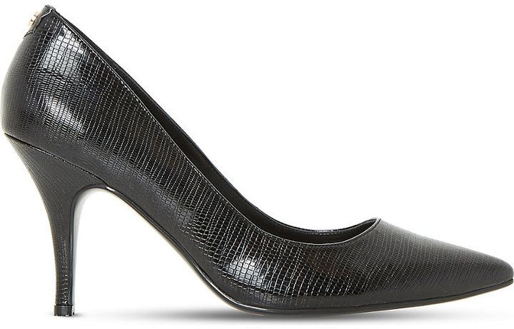 Dune Aeryn slip-on patent-leather court shoes