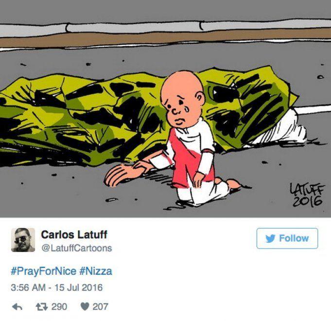 Strage Nizza, la solidarietà nelle vignette degli artisti