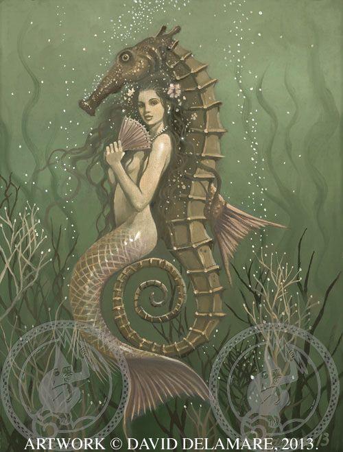 Original Mermaid Art by David Delamare