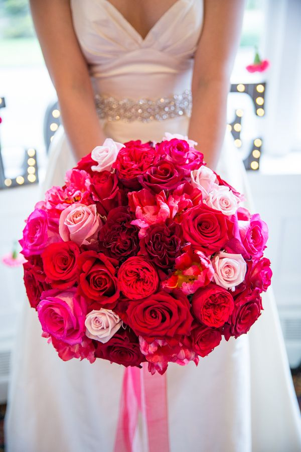 Pink Ombre wedding bouquet - how flawless!