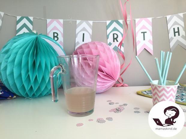 Babys 1. Geburtstag. Motto: Rosa-Blau