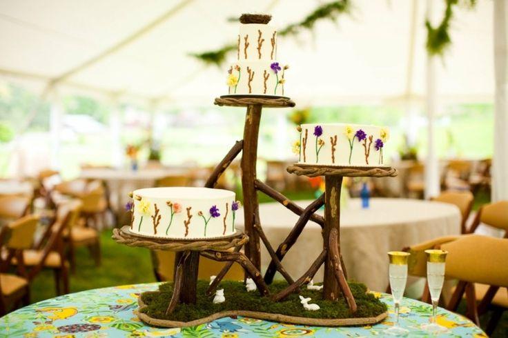 décoration de gateau pour mariage champêtre