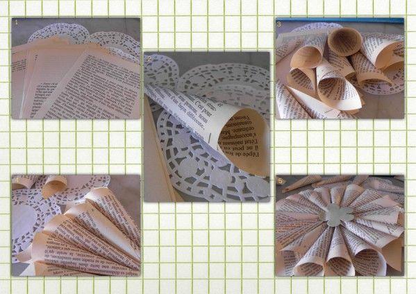 cr er 11 fleur en papier bricos pinterest livres de poche vieux livres et papier. Black Bedroom Furniture Sets. Home Design Ideas