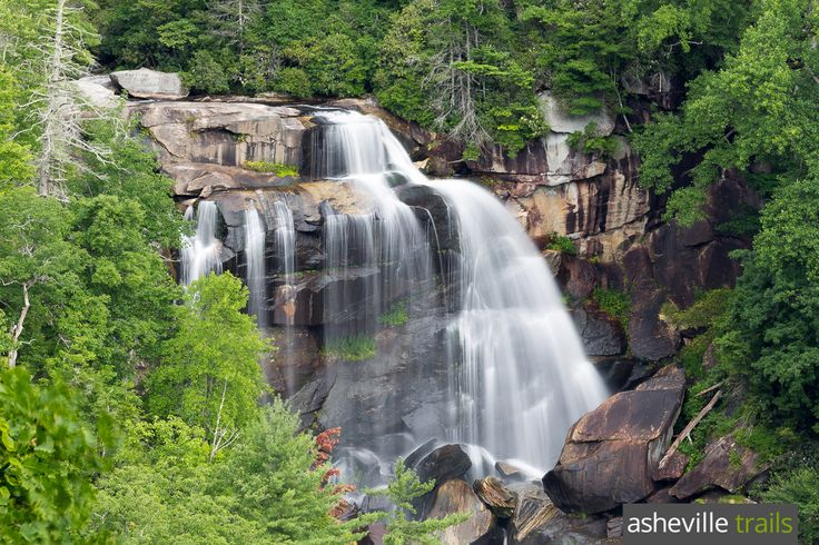 Hike to Whitewater Falls, the highest waterfall east of the Mississippi River, near Cashiers, NC