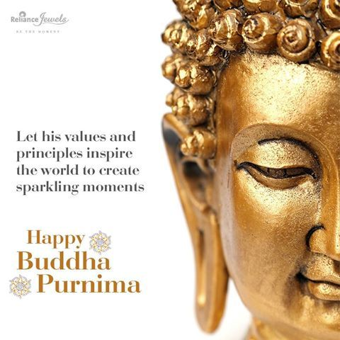 Let his values and principles inspire the world to create sparkling moments. Reliance Jewels wishes you all a Happy Buddha Purnima. www.reliancejewels.com #Reliance #RelianceJewels #Jewellery #Jewels #Gold #Diamond #Collection #Necklace #earrings #goldjewellery #diamondjewellery #ethnic #elegant #beauty #design #festive #greetings